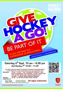 Give Hockey A Go Day Poster